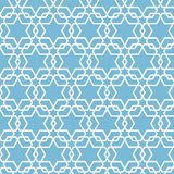 Vector abstract geometric islamic background. Based on ethnic muslim ornaments. Intertwined paper stripes. Royalty Free Stock Photo