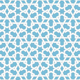 Vector abstract geometric islamic background. Based on ethnic muslim ornaments. Intertwined paper stripes. Stock Photos