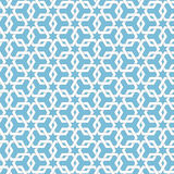 Vector abstract geometric islamic background. Based on ethnic muslim ornaments. Intertwined paper stripes. Stock Image