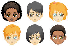 Faces of Children Royalty Free Stock Photos