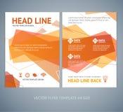 Vector abstract geometric orange wave brochure Stock Photo