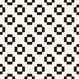 Vector abstract geometric pattern with jagged shapes. Ornamental ethnic motif. Royalty Free Stock Images