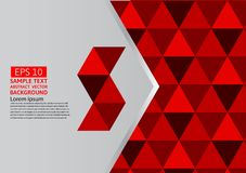 Vector abstract geometric red background modern design eps10 with copy space.  stock illustration