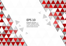 Vector abstract geometric red and gray background modern design eps10 with copy space.  vector illustration