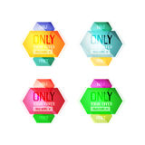 Vector abstract geometric sale labels Royalty Free Stock Image