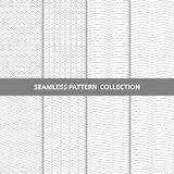 Vector Abstract Geometric Seamless Pattern Design Collection. Vector Abstract Geometric Seamless Pattern Design Monochrome Collection Royalty Free Stock Photo