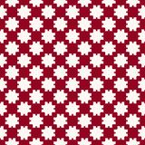 Vector abstract red and white geometric seamless pattern with squares, grid, net. Vector abstract geometric seamless pattern. Simple ornament with flower royalty free illustration