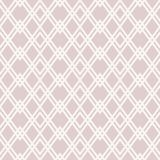 Vector abstract geometric seamless pattern. Subtle white and beige diamond grid. Abstract geometric seamless pattern. Subtle white and rose beige vector stock illustration