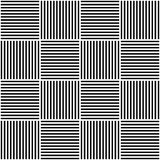 Vector abstract geometric seamless pattern. Weaving textile fabric with black and white crossed straight lines. Checked Royalty Free Stock Photo