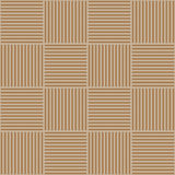 Vector abstract geometric seamless pattern. Weaving textile fabric with brown and beige crossed straight lines. Checked Stock Photography