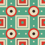 Vector abstract geometric seamless retro pattern. Royalty Free Stock Photography