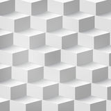 Vector Abstract geometric shape from cubes Royalty Free Stock Photo