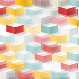 Vector Abstract geometric shape from cubes Stock Photography