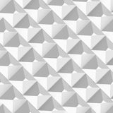 Vector Abstract geometric shape from gray cubes Royalty Free Stock Photography