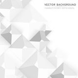 Vector Abstract geometric shape from gray cubes Stock Photography