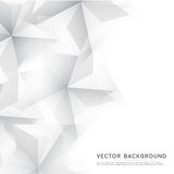 Vector Abstract geometric shape from gray cubes Royalty Free Stock Images