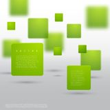 Vector Abstract geometric shape from green cubes. Particles squares Royalty Free Stock Photography
