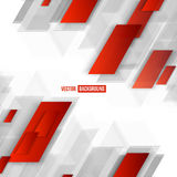 Vector Abstract geometric shape from red. Lines Royalty Free Stock Photos