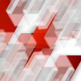 Vector Abstract geometric shape from red Stock Photography