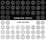 Vector abstract geometric shapes. Set of hipster vector geometric shapes. Circular abstract. Shapes made using line, triangles, circles, and other polygons. You Stock Photo