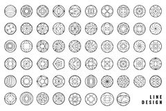 Vector abstract geometric shapes. Set of hipster vector geometric shapes. Circular abstract. Shapes made using line, triangles, circles, and other polygons. You Stock Images