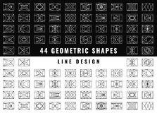 Vector abstract geometric shapes. Set of hipster vector geometric shapes. Rectangle abstract. Shapes made using line, triangles, rectangle, and other polygons Royalty Free Stock Image