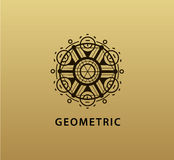 Vector abstract geometric symbol. Linear alchemy, occult, philosophical sign. For poster, flyer, logo design. Astrology, imagination creativity superstition royalty free illustration