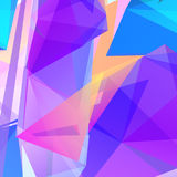 Vector abstract geometric triangular background. Pink and violet vector illustration