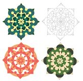 Geometrical elements in different colors Royalty Free Stock Photography
