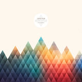 Vector Abstract Geometrical Hipster Background Royalty Free Stock Photo