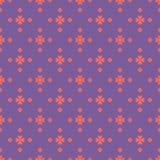 Vector abstract geometrisch bloemen naadloos patroon Purple en koraalkleur royalty-vrije illustratie