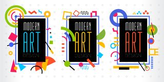 Vector abstract geometrisch dynamisch patroonkader Modern Art Design Royalty-vrije Stock Afbeelding