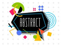 Vector abstract geometrisch dynamisch patroonkader Modern Art Design Royalty-vrije Stock Fotografie