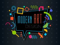 Vector abstract geometrisch dynamisch patroonkader Modern Art Design Stock Afbeelding