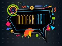 Vector abstract geometrisch dynamisch patroonkader Modern Art Design Royalty-vrije Stock Foto's