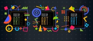 Vector abstract geometrisch dynamisch patroonkader Modern Art Design Royalty-vrije Stock Afbeeldingen