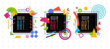 Vector abstract geometrisch dynamisch patroonkader Modern Art Design Stock Foto