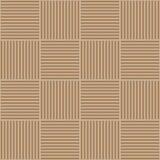 Vector abstract geometrisch naadloos patroon Het weven van textielstof met bruine en beige gekruiste rechte lijnen gecontroleerd Stock Fotografie