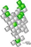 Vector abstract geometrisch ontwerp als achtergrond Stock Foto's