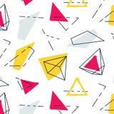 Vector abstract geometrisch patroon De innovatietextuur van manier grafische hipster Funky decoratie van jaren '90 in Memphis Stock Afbeelding
