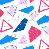 Vector abstract geometrisch patroon De innovatietextuur van manier grafische hipster Funky decoratie van jaren '90 in Memphis Royalty-vrije Stock Afbeelding
