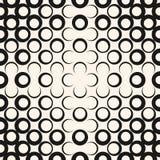 Vector abstract geometrisch radiaal halftone naadloos patroon In modern ontwerp voor digitaal decor, dekking royalty-vrije illustratie
