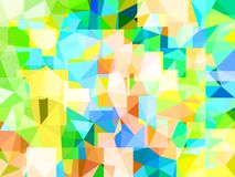 Vector Abstract Glass Strongly Colorful Background. Textured Geometric Wallpaper in Low Poly Style. Vector illustration of Crystal Fond. Modern Concept in Blue stock illustration