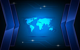 Vector abstract global communication innovation concept background Royalty Free Stock Photography