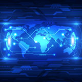 Vector abstract global future technology, electric telecom background Royalty Free Stock Photo