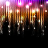 Vector abstract glowing disco background. Eps10 Stock Photo
