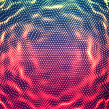 Vector abstract glowing point noise background. Array of glowing points in form of distorted surface. Stock Photo