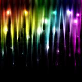 Vector abstract glowing rainbow background. Eps10 Stock Photography
