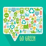 Vector abstract Go Green concept Stock Photos