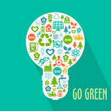 Vector abstract Go Green concept Royalty Free Stock Photography